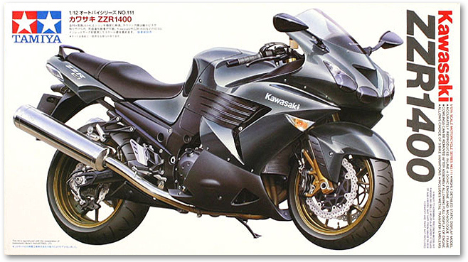1/12 Kawasaki ZZR-1400 Motorcycle Model 14111