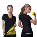 hot shpaer t shirt short sleeve  shirt Stretch Neoprene Body Shaper loose weight clothes