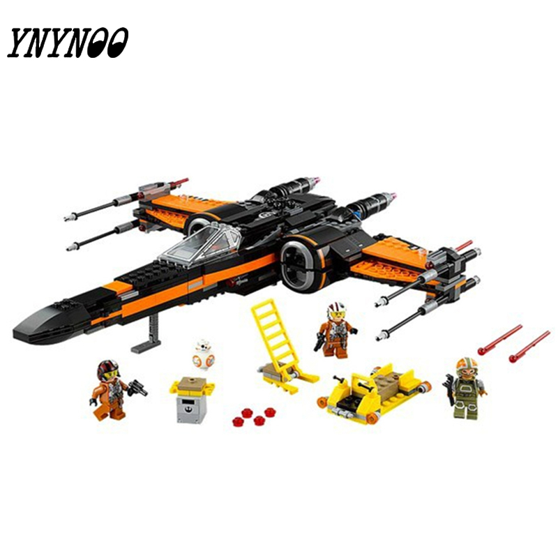 (YNYNOO)New 748pcs Super Heroes StarWars First Order Poe X-Wing Star Fighter Building Blocks BB-8  compatible with new order new order music complete 2 lp