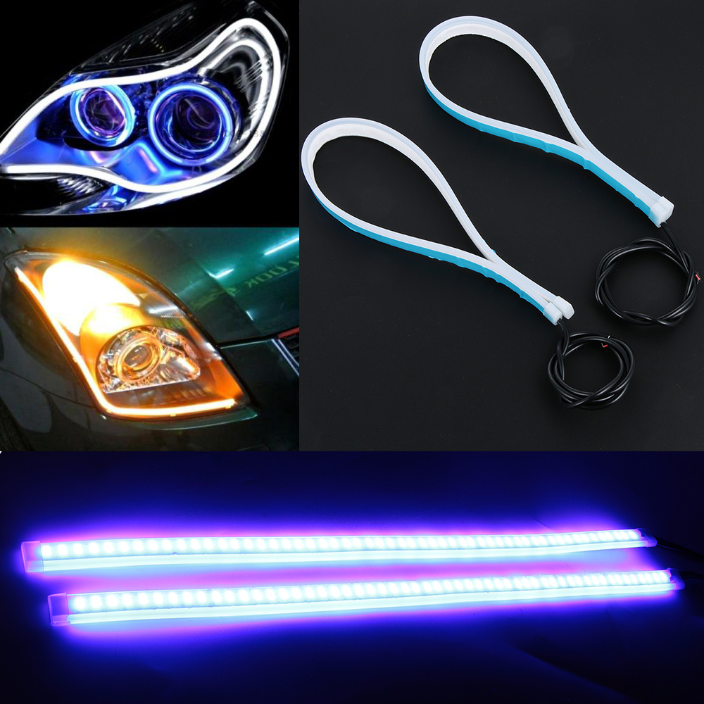 Ultra Thin DRL Eyebrow Light Auto Led Strip Car Headlight Daytime Running Light