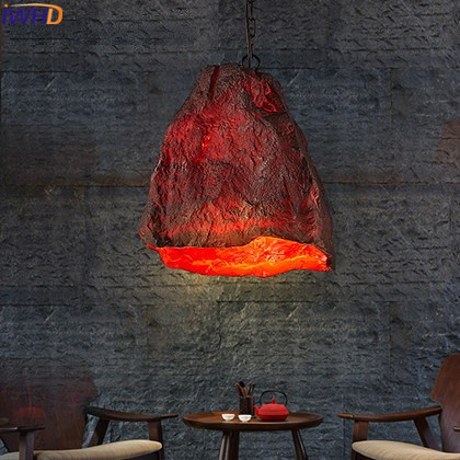 IWHD Resin Vintage Lamp Living Room Led Pendant Light Fixtures Loft Style Industrial Retro Hanglamp for Dining Room Lamparas american edison loft style rope retro pendant light fixtures for dining room iron hanging lamp vintage industrial lighting