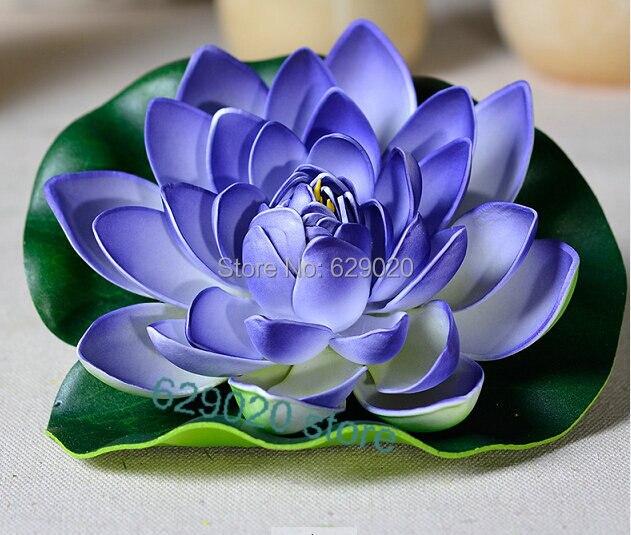 12 Pcs 28cm Artificial Lotus Flower Faux Silk Floating Flower Fake