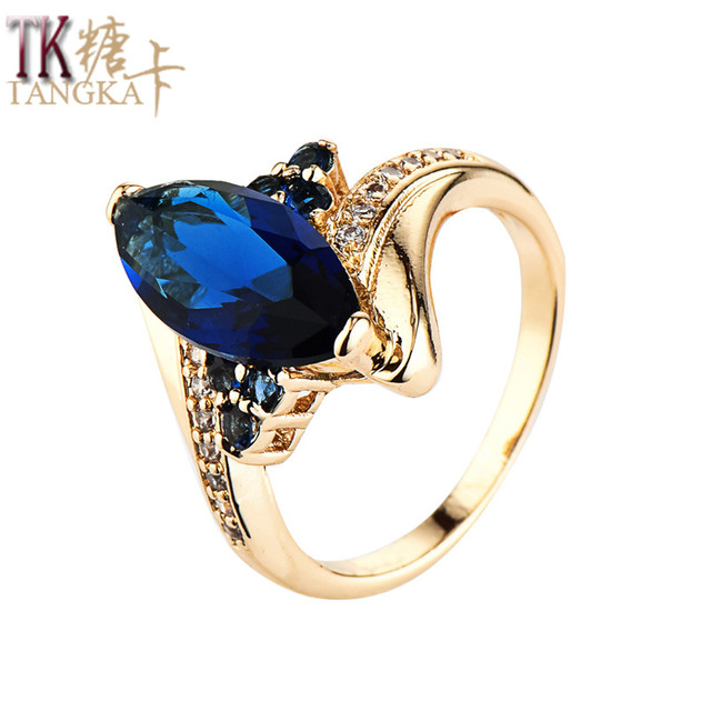 Aliexpresscom Buy TANGKA top trendy copper ring Cubic Zirconia