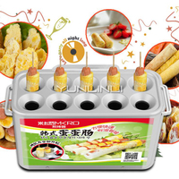 Ovo máquina de salsicha ovo comercial máquina de rolo ovo copo automático ovo fogão cachorro quente máquina de cozimento hla1