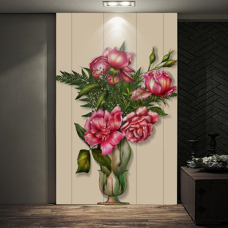 Custom 3D Photo Wallpaper for Living Room Bedroom Hallway Bathroom Doors Painting Wall Mural Florals Wall Papers Home Decor custom 3d wall mural wallpaper for bedroom photo background wall papers home decor living room modern painting wall paper rolls