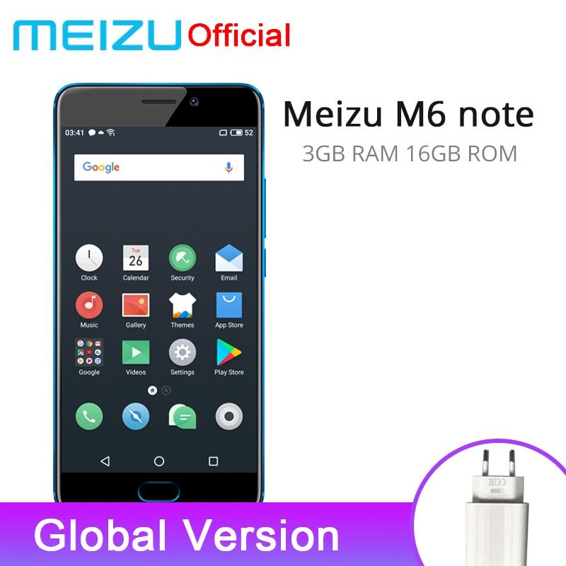 Aliexpress Buy Meizu M6 Note 3gb 16gb Version Global Firmware