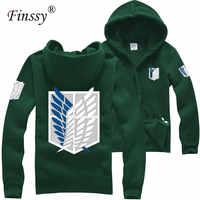 Japan shingeki keine kyojin Cosplay Kostüm Angriff auf titan hoodies für Männer Frauen Mantel Paar Baumwolle