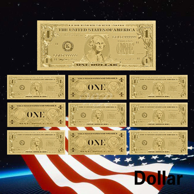 Souvenir Usa 1 Million Dollar 24k Gold Banknote 999 Gold Foil Bill