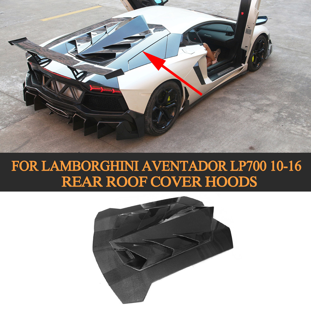 Exterior Parts Frp Rear Diffuser Lip Spoiler Bumper Guard Case For Lamborghini Huracan Lp600 Lp610 Coupe 2 Door 14-17 Carbon Fiber Auto Replacement Parts