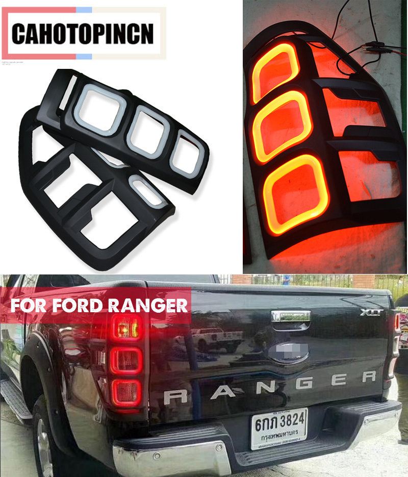 REAR LED TAIL LAMP DAY LIGHTS COVER REAR LED LIGHTS COVERS FIT FOR FORD RANGER T6