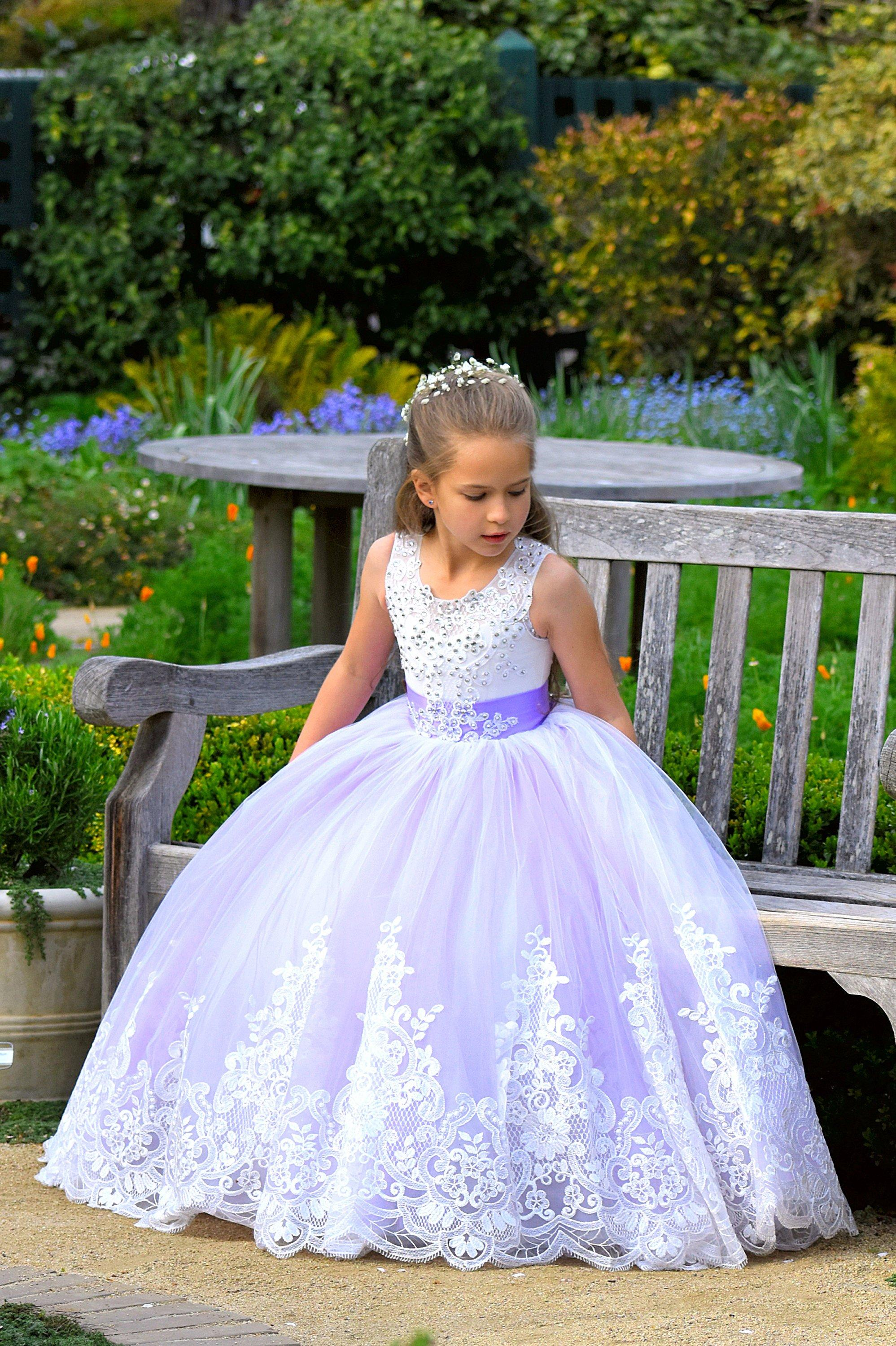 Flower Girl Dress Lace Baby Formal Princess Party Holiday Wedding Bridesmaids