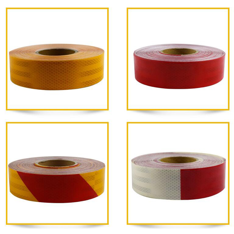 50mm X 50m Reflective Bicycle Stickers Adhesive Tape For Bike Safety Reflective Bike Stickers