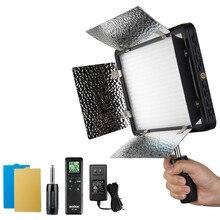 Godox مصباح فيديو LED LED 500 ، إصدار أبيض 5600K ، مع عاكس وجهاز تحكم عن بعد