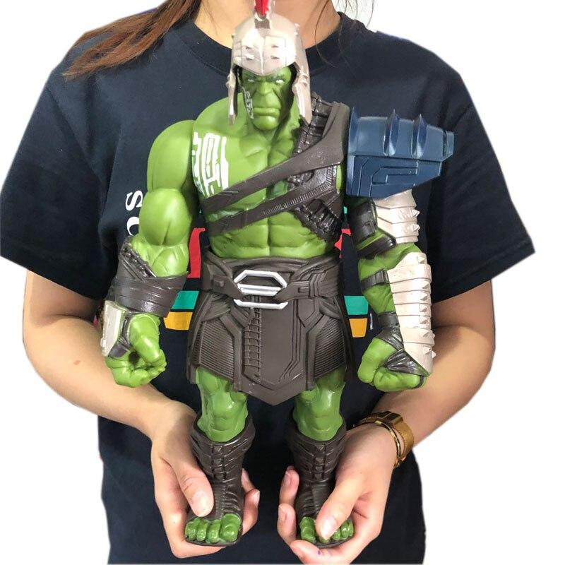 35 cm Große Größe Avengers Marvel Thor 3 Ragnarok Hände Bewegliche Krieg Hammer Schlacht Axt Gladiator Hulk BJD Action Figur modell Spielzeug