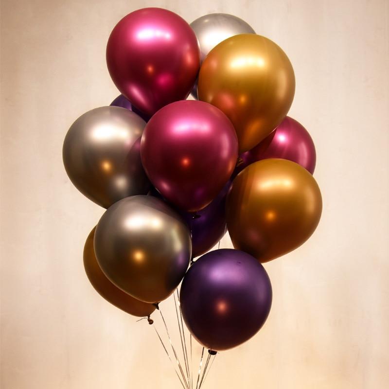 Wedding Decoration Valentines Day Birthday Party Supplies Chrome Latex Balloons  50pcs/lot Thicken Metallic Balloon
