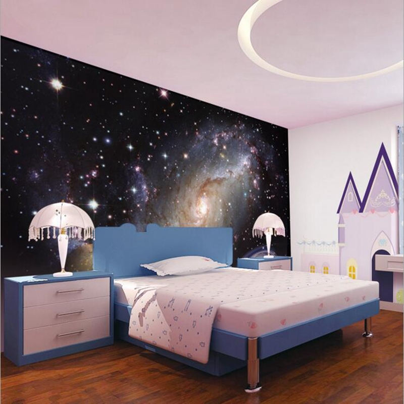 Custom Non-woven Paper 3D Murals wallpapers 3d Planet wall murals Hotel lobby Living Room Bedroom Kids Room wallpaper Home Decor 3d modern wallpapers home decor flower wallpaper 3d non woven wall paper roll bird trees wallpaper decorative bedroom wall paper
