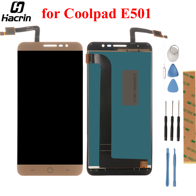 Hacrin Für Coolpad E501 LCD Display + Touch Panel LCD Screen Digitizer Montage Ersatz Für Coolpad E501 Handy 5,5''