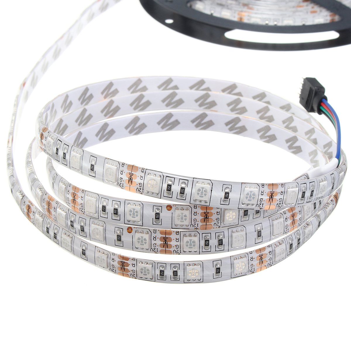 Smuxi 5050 5M/16.4Ft Smart Wifi RGB 300 Waterproof LED Strip Lights WIFI Intelligent Controller For Alexa Google Home IR UK