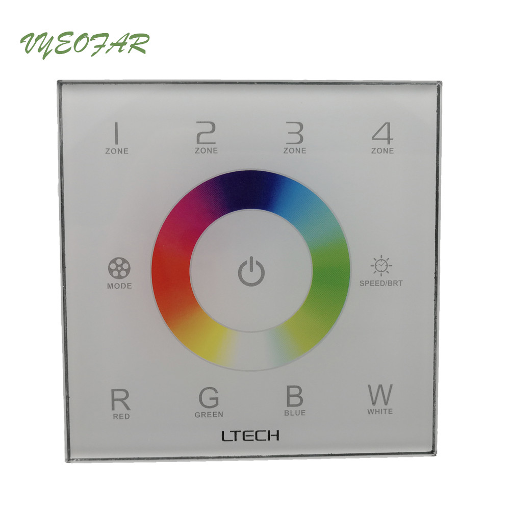 New DX8 rgbw touch panel led controller 4 Zones control 100-240V RF 2.4G+DMX512 master 86mm wall mounted,rgbw strip led panel d5 touch led controller led dimmer dmx512 4 zones control dc12 24v dimming touch panel led controller 5 year warranty
