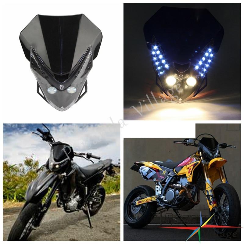 Dual Sport Motorcycle Dirt Bike LED Headlight Headlamp For