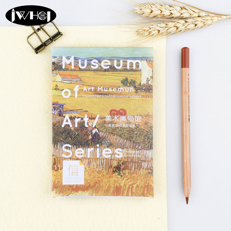 30pc museum of Art serie Postcard world famous paintings card Valentine's Day New Year Greeting Card Birthday Gift Message cards image