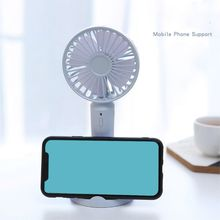 Mini Portable USB Rechargeable Fan 3 Speed Aromatherapy Electric for Inch/4 Inch Mobile Phone Holder Bracket Accessories