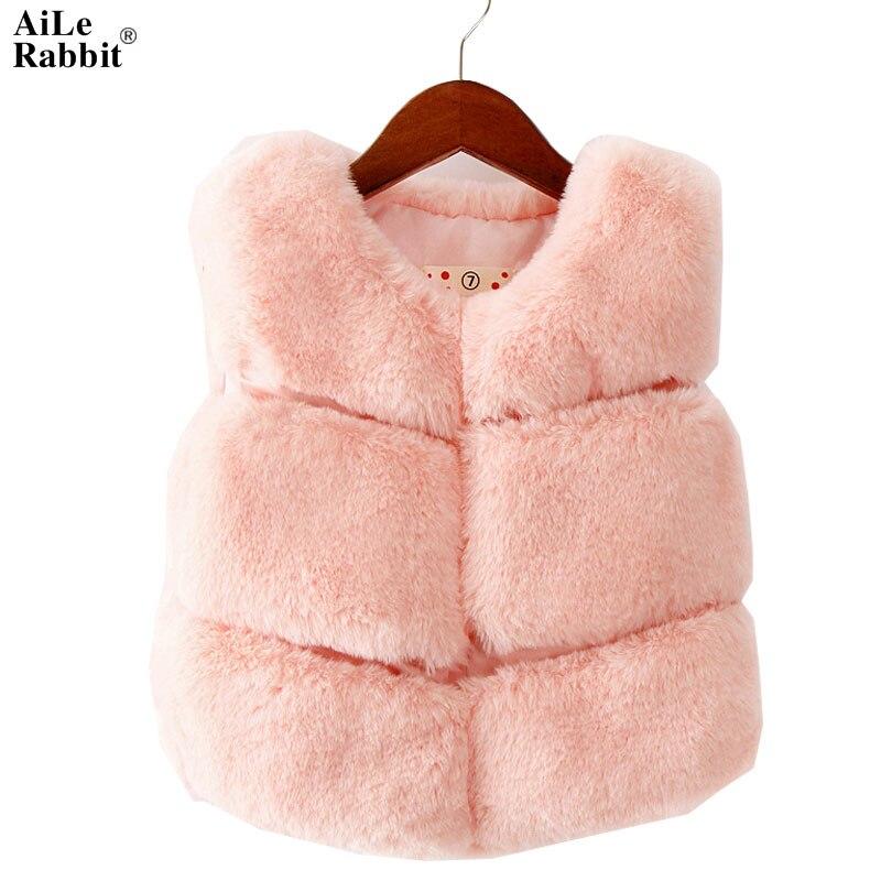 2018 venda tempo-limitado sólido o-pescoço algodão meninas colete infantil bebê menina colete inverno nova moda coelho selvagem ponto colete menina
