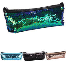 Fashion 1PC Women Multifunction Mermaid Sequin Travel Cosmetic Bags Makeup Bags Zipper Organizer Storage Makeup Case S10 SE25(China)
