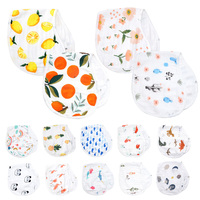 Muslinlife, 2 шт./партия, очень мягкий детский полотенце, детский нагрудник, животный мир, растение, детское полотенце, Мультяшные детские салфетк...