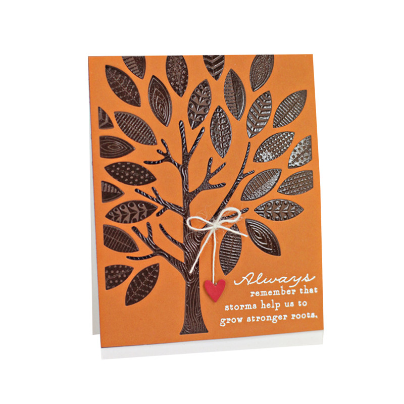 GJCrafts Tree Rectangle Dies Scrapbooking Leaves Background Metal Cutting New 2019 Craft for Cards Making