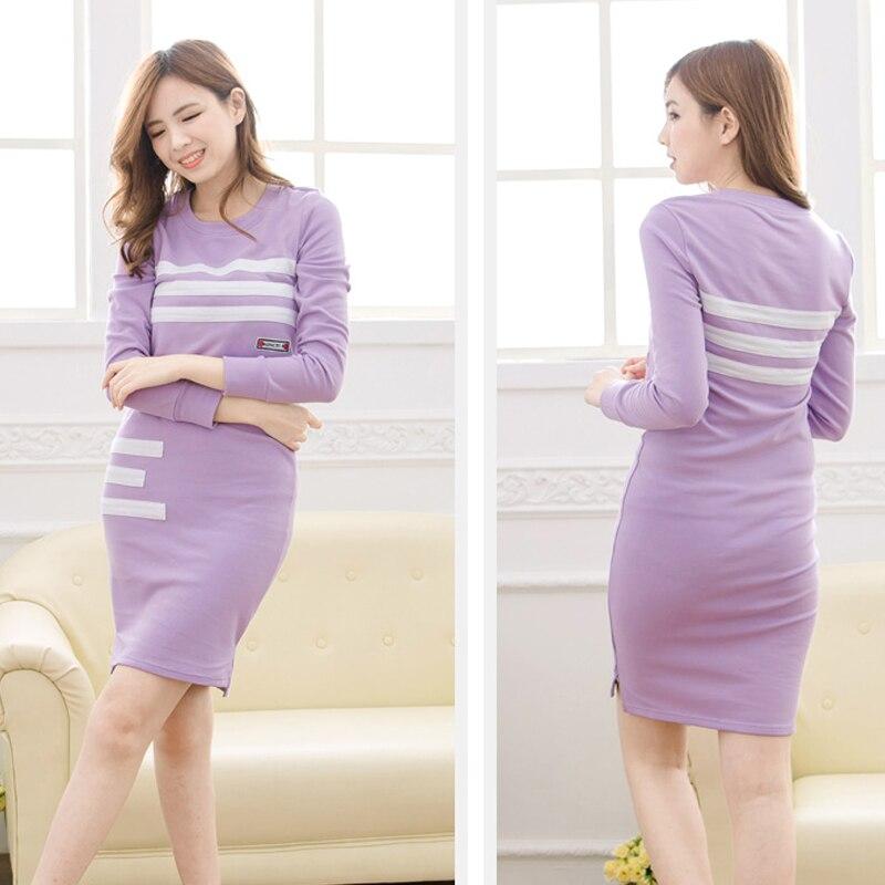 ФОТО Maternity Nursing Dress Antumn & Winter Long Sleeves Breastfeeding Nursing Dress