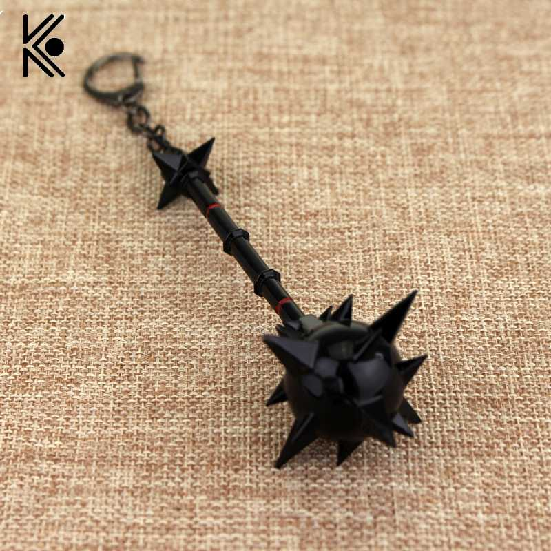 Weapons Key Chain the Iron Revenant Black Keychain for Women Men Mordekaiser Hellfire Weapons Toys Llaveros Key Holder Statement