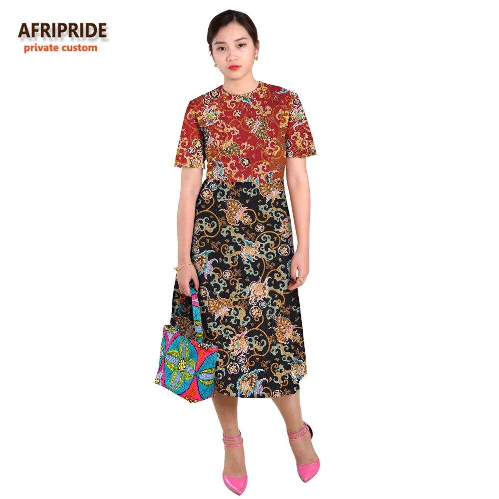 Afrikanska klänningar för kvinnor splitsning kjol sexiga stilar - Nationella kläder - Foto 5