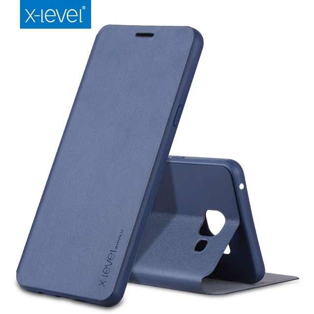 X-Level Luxury Classic Flip Leather Case For Samsung Galaxy A50 A40 A70 Note 10 9 8 A5 A7 A3 J1 j3 J5 J7 2017 S7 S8 S9 10 Plus E