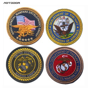 Нашивка с вышитыми нашивками американского Морского корпуса USMC, морские значки с печатью для курток, рюкзаков, NSWDG DEVGRU, военные нашивки