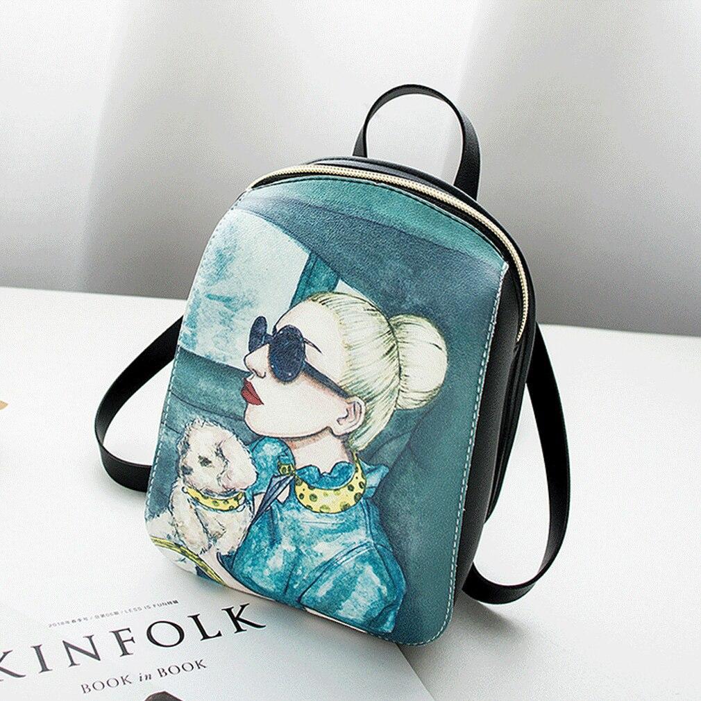 2019 Women Girls Waterproof PU Leather Backpack Fashion Shoulder School Bag Casual Mini Rucksack Travel Bag New Fashion