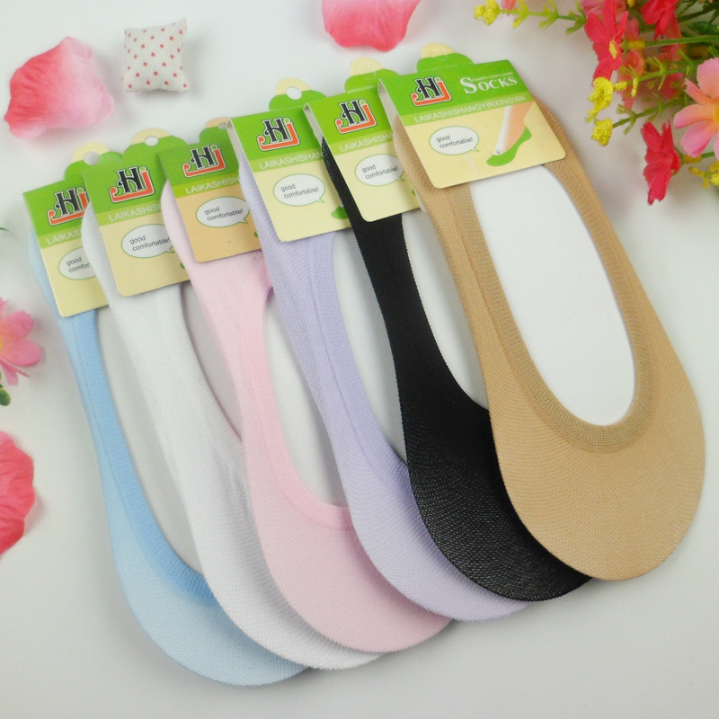 1pair=2pcs cheap jewelry Warm comfortable cotton girl women's socks ankle low female invisible color girl hosiery free shipping