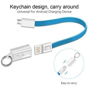 Брелок USB кабель для iPhone Samsung Huawei Xiaomi Micro USB Type C кабель брелок аксессуар Портативная зарядка USBC Шнур кабель