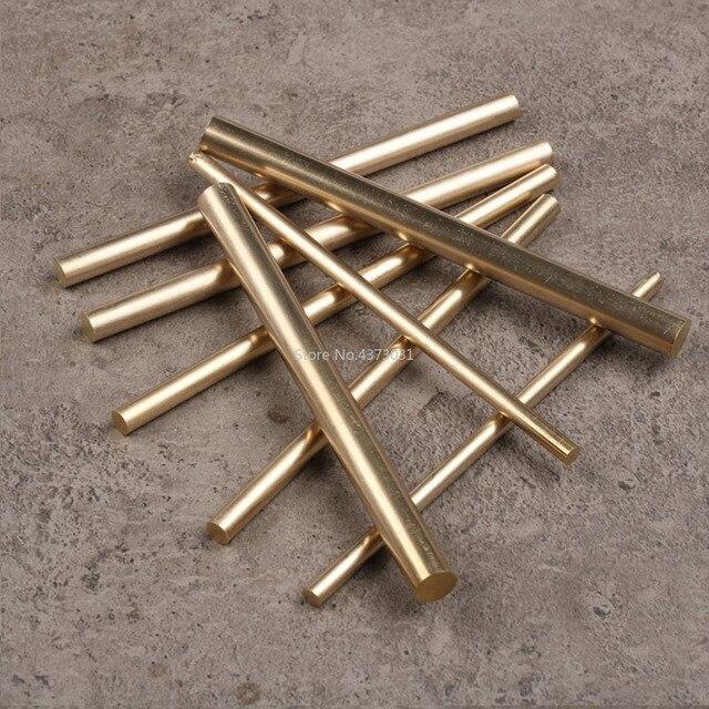 2 piezas 3-8mm barra de latón hecha a mano Barra de 100mm para la parte de la manija del cuchillo diy accesorios Juguetes
