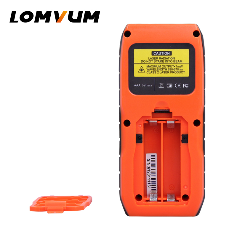 LOMVUM 40-120M Laser Distance Meter with Large LCD and Backlight for Wide Range Measurement 4