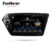 Funrover octa core android 8.0 radio tape recorder car dvd player gps for Kia k2 RIO 2010 2011 2012 2013 2014 2015 navigation FM