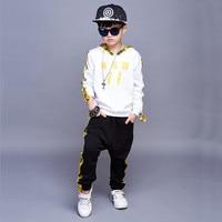 Children S Clothing Children S Autumn New Children S Hooded Ribbon Cotton Sports Suit