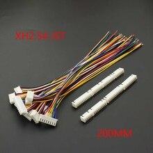 10 Pcs Xh 2.54 Jst Connettore Spina Del Cavo di Legare 20 Centimetri Lungo 26AWG 2/3/4/5 /6/7/8/9/10/11/12P + Xh 2.54 Collegare La Spina  in Flessione Ago