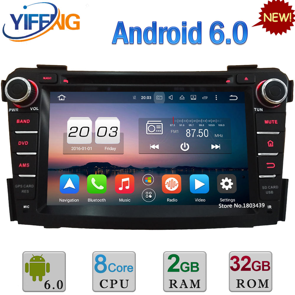 HD 7 4G Octa Core A53 PX5 Android 6.0 4 GB RAM 32 GB ROM DAB + WIFI Lecteur DVD de Voiture Radio GPS Navigation Pour Hyundai I40 2011-2016