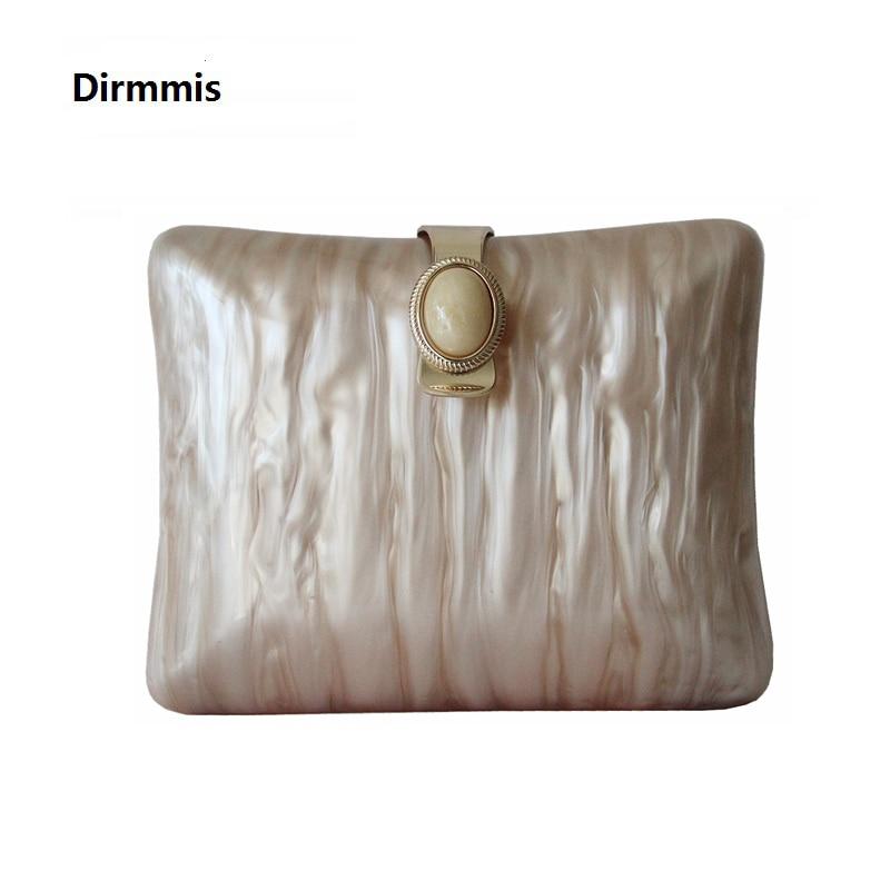 New Brand Fashion Wallet Women Acrylic Cute Handbag Solid Beige Woman Evening Bags Luxury Pearl Bags Vintage Casual Clutch