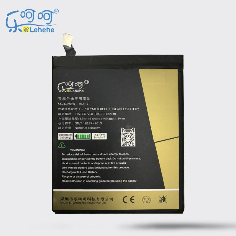 Original LEHEHE Battery For Xiaomi Mi 5S plus 3.85V BM37 3800mAh High Quality Replacement Bateria Tools Gifts