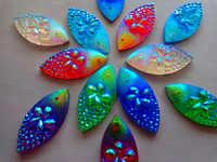 Color mezclado Navette forma 11*24mm coser en diamantes de imitación resina cristal accesorio piedras preciosas strass 60 unids/bolsa