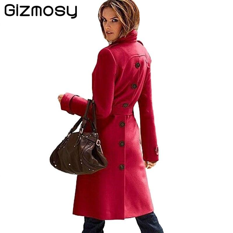 2017 Cachemira Mujeres Mezcla Coat Chaqueta Abrigo Elegante De Abrigos  Calidad Black Sy1805 Invierno yellow Wool Lana Rebeca Larga white red Alta  ... 7c014b67fc47