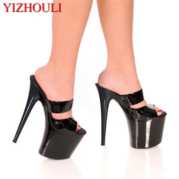 20cm Summer Sandals For Women Fashion Party Shoes 8 Inch Sexy Rome Exotic Dancer Shoes Slippers