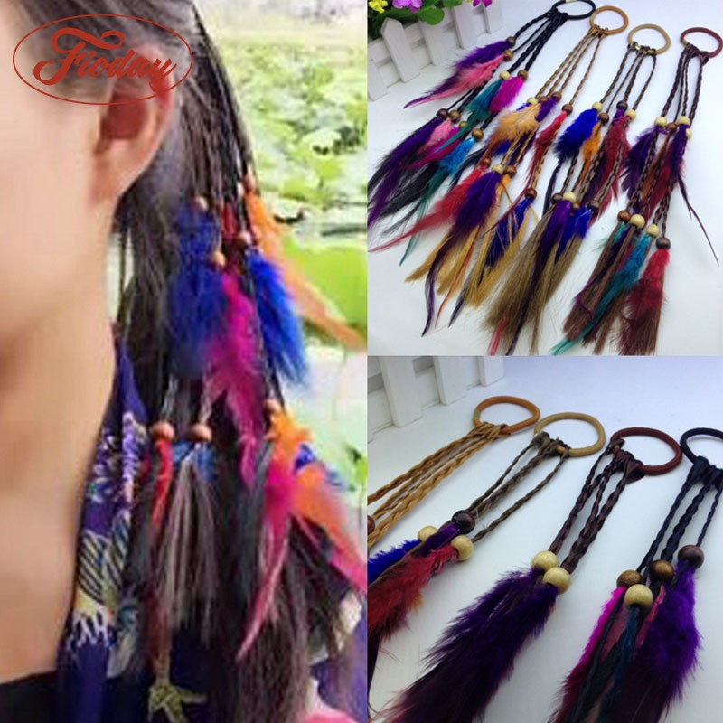 Hot   Headwear   Real Feather Headband Native American Headband Bohemian Headband Indian Peacock Feather Hair Accessories For Women